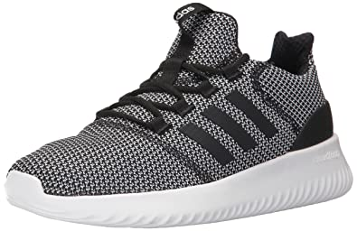 adidas Men s Cloudfoam Ultimate Running Shoe Black White cef81cf54