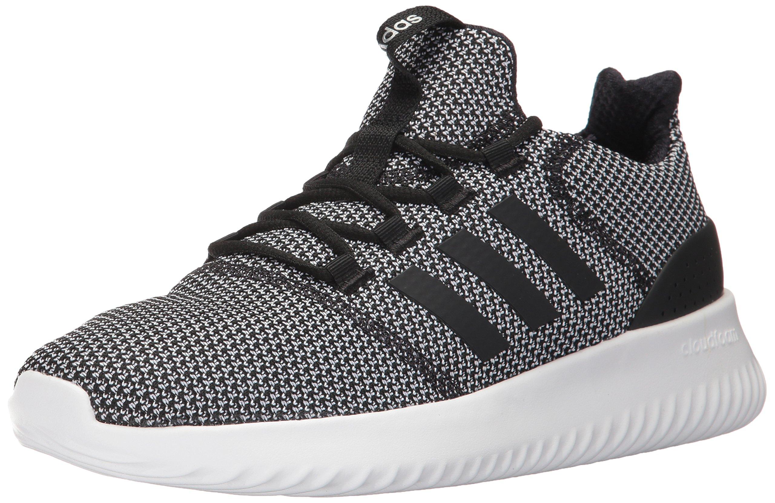 adidas Men's Cloudfoam Ultimate Running Shoe Black/White, 4 Medium US