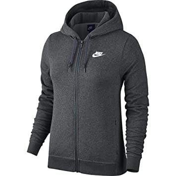 Nike 853932-071 Veste à Capuche Femme, Charcoal Dark Grey Heather, FR   489ed4b4e265