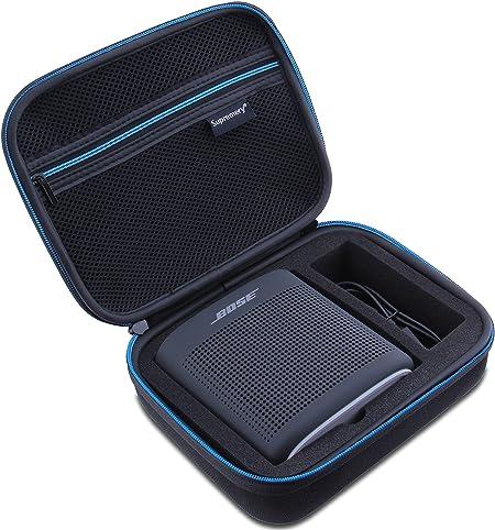 Supremery Bose SoundLink Color 2 Bluetooth Altavoz Caja Funda EVA Bolsa de Viaje con maneta Impermeable en Negro-Azul
