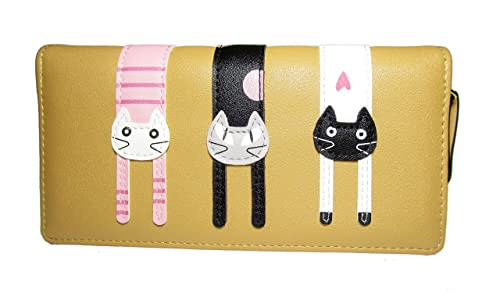 Nawoshow Mujer Cartera Cute Cat Billetera Bifold Larga Monedero con cremallera: Amazon.es: Zapatos y complementos