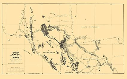 Amazon Com Old State Map New Mexico Route Moore 1869 23 X