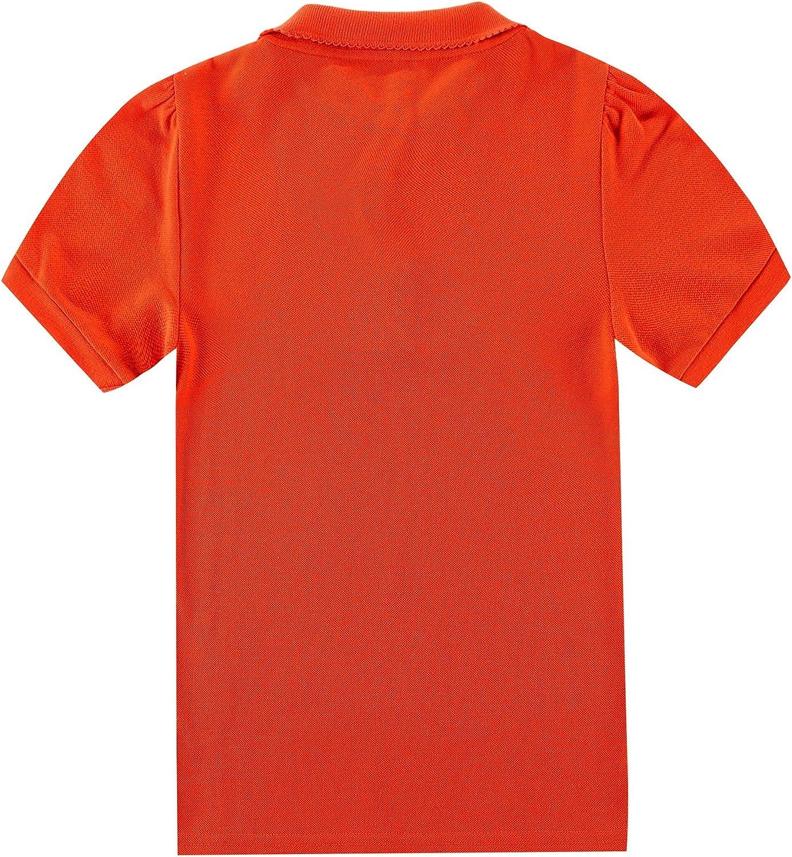 Bienzoe Girls Breathable Short Sleeve 2 Polos Pack
