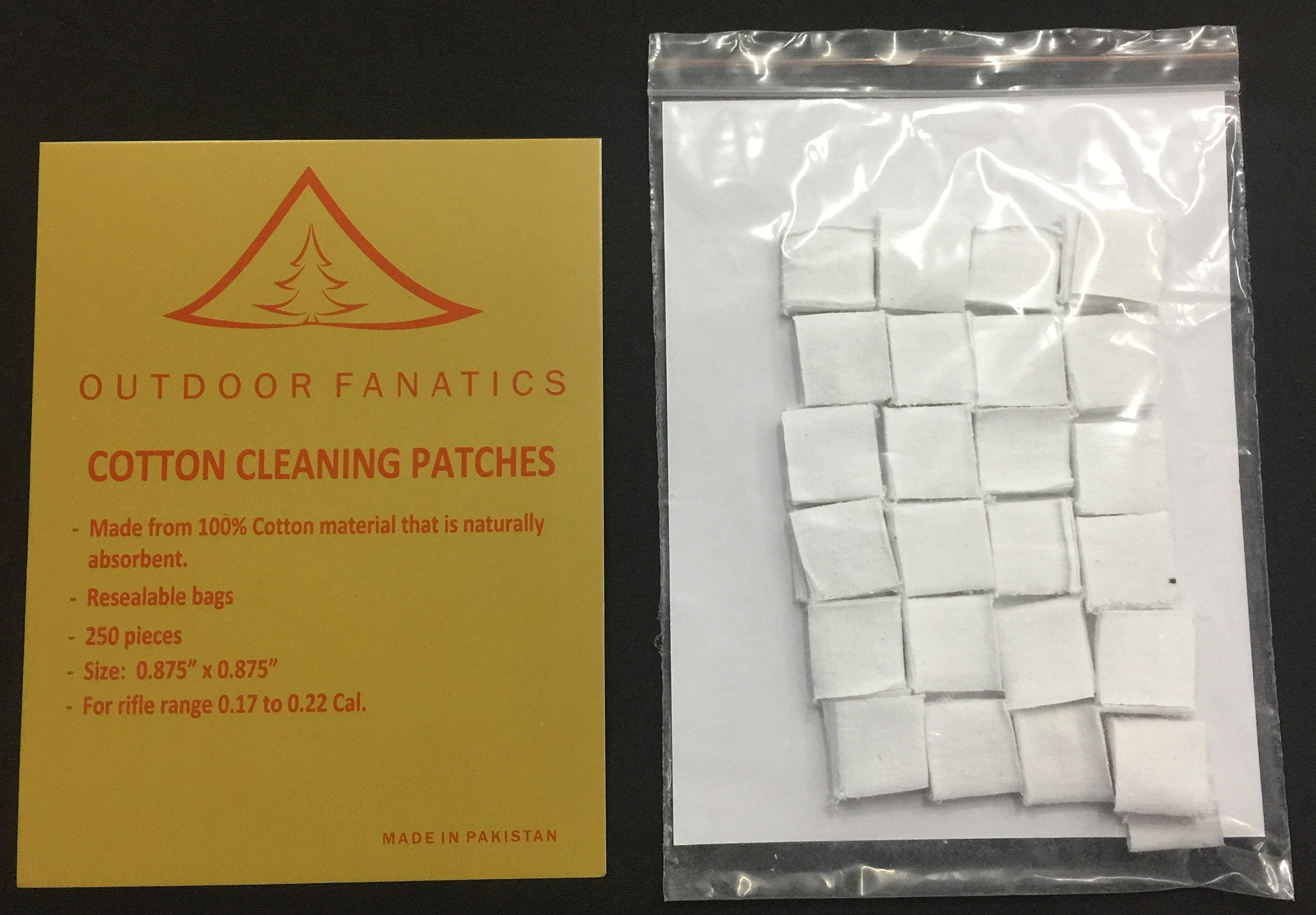 Outdoor Fanatics Gun Cleaning Patch 17-22 Cal