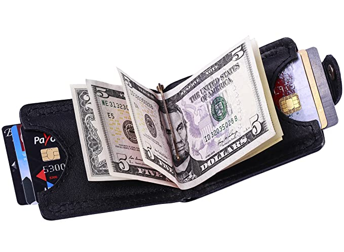 brand new 61812 a2730 Leather Slim Wallet for Men: Card Holder and Money Clip Bifold, Thin ...