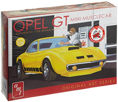 Amazon Com Amt Opel Gt Plastic Model Kit Mini Muscle Car 1 25 Scale