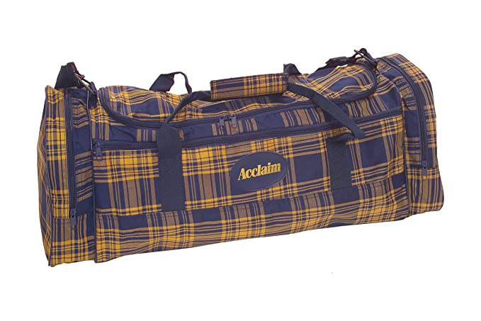 2fb1ccbe8a6c Acclaim Troon Sports Super Maxi Holdall Holiday All Round Gym Bag  Navy Yellow Tartan 27