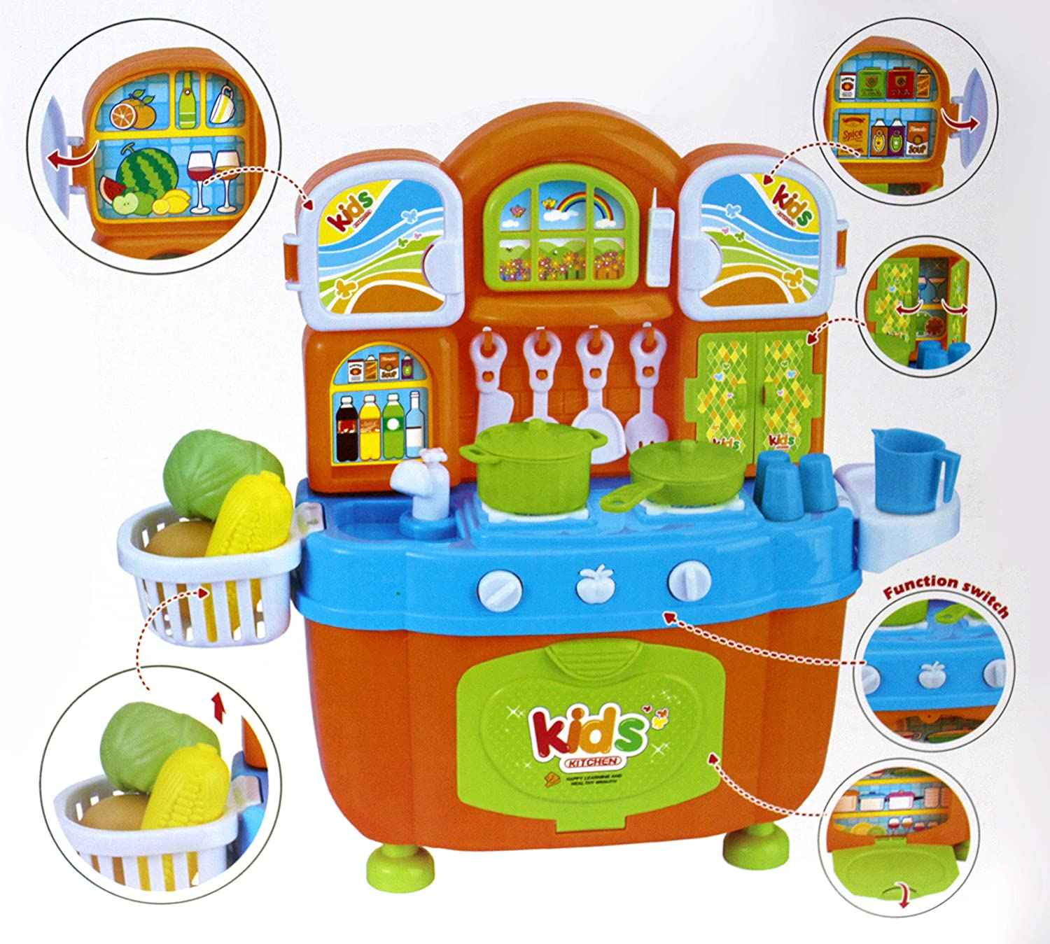 pretend play battery operated mini toy kitchen set for