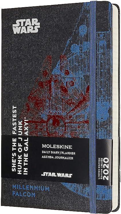 Moleskine - Agenda de 12 Meses para 2020 Star Wars Edición Especial Halcón Milenario con Tapa Dura y Cierre Elástico, Tamaño Grande 13 x 21 cm, 400 ...