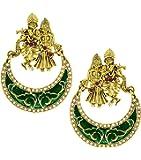 Zaveri Pearls Lord Radha-Krishna Temple Earring For Women - ZPFK5448