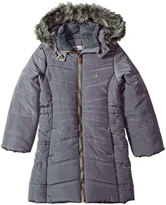 e5fd469ab42d Amazon.com  Calvin Klein Girls  Long Puffer Jacket  Clothing