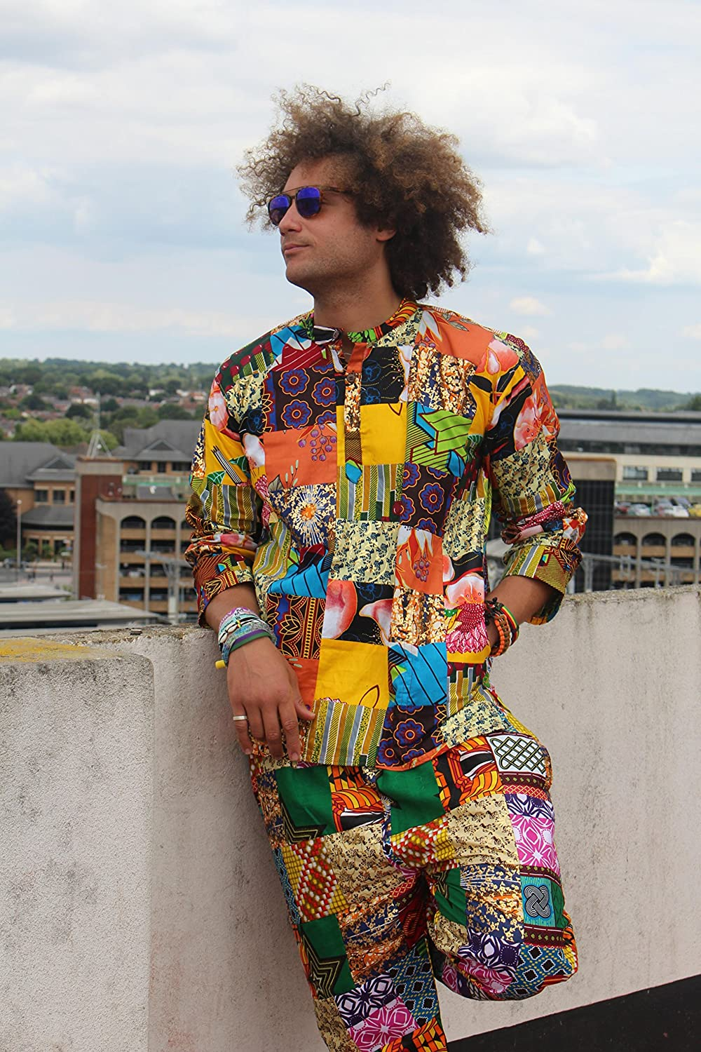 27bb40836e Amazon.com  Mens Matching Suit Patchwork African Two Piece Festival Clothing  African Outfit Dashiki Kente Clothing Kente Outfit Ankara  Handmade