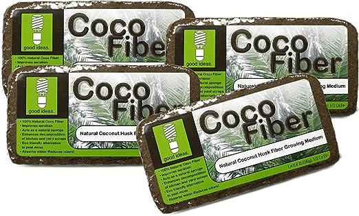 Good Ideas Fibra de Coco Natural Compost aditivo: Amazon.es: Jardín