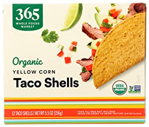365 by Whole Foods Market, Organic Taco Shells, Yellow Corn (12 Taco Shells), 5.5 Ounce