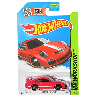 Hot Wheels 2015 HW Workshop Porsche 911 GT3 RS 196/250, Red: Toys & Games