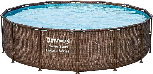Bestway 56924 Power Steel Deluxe Series - Piscina de Exterior con ...