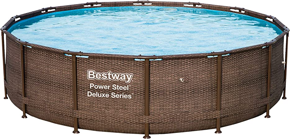 Bestway 56924 Power Steel Deluxe Series - Piscina de Exterior con ...