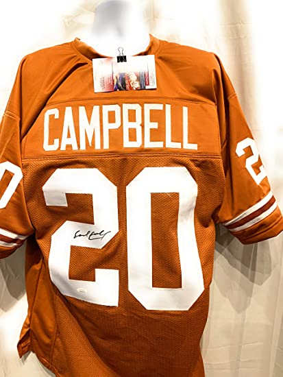 designer fashion edab2 a7d48 Earl Campbell Texas Longhorns Signed Autograph Custom Jersey ...