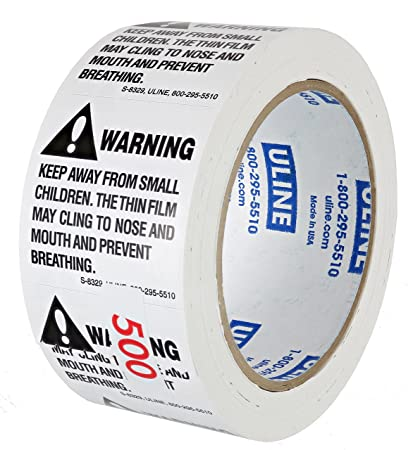 3b210ef9553 ULINE S-8329 500-Count 2x2-inch Bulk Packaged Suffocation Warning Labels  for Child Safety  Amazon.com  Office Products
