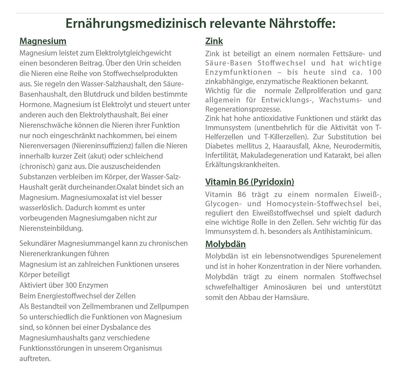 AYUNOVA Nieren-Formel - 60 vegane Kapseln mit der einzigartigen ...