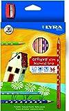 Lápis de Cor Lyra Groove Slim com 36 Cores e com Apontador