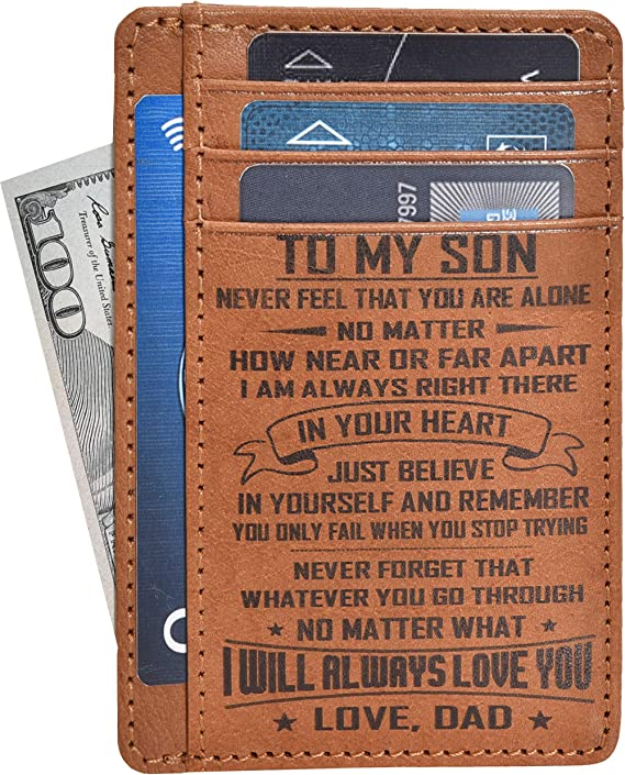 Engraved Personalized Slim Wallet