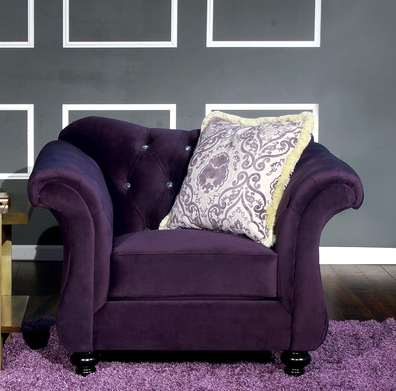 Amazon Furniture of America Ivorah Glamorous Arm Chair