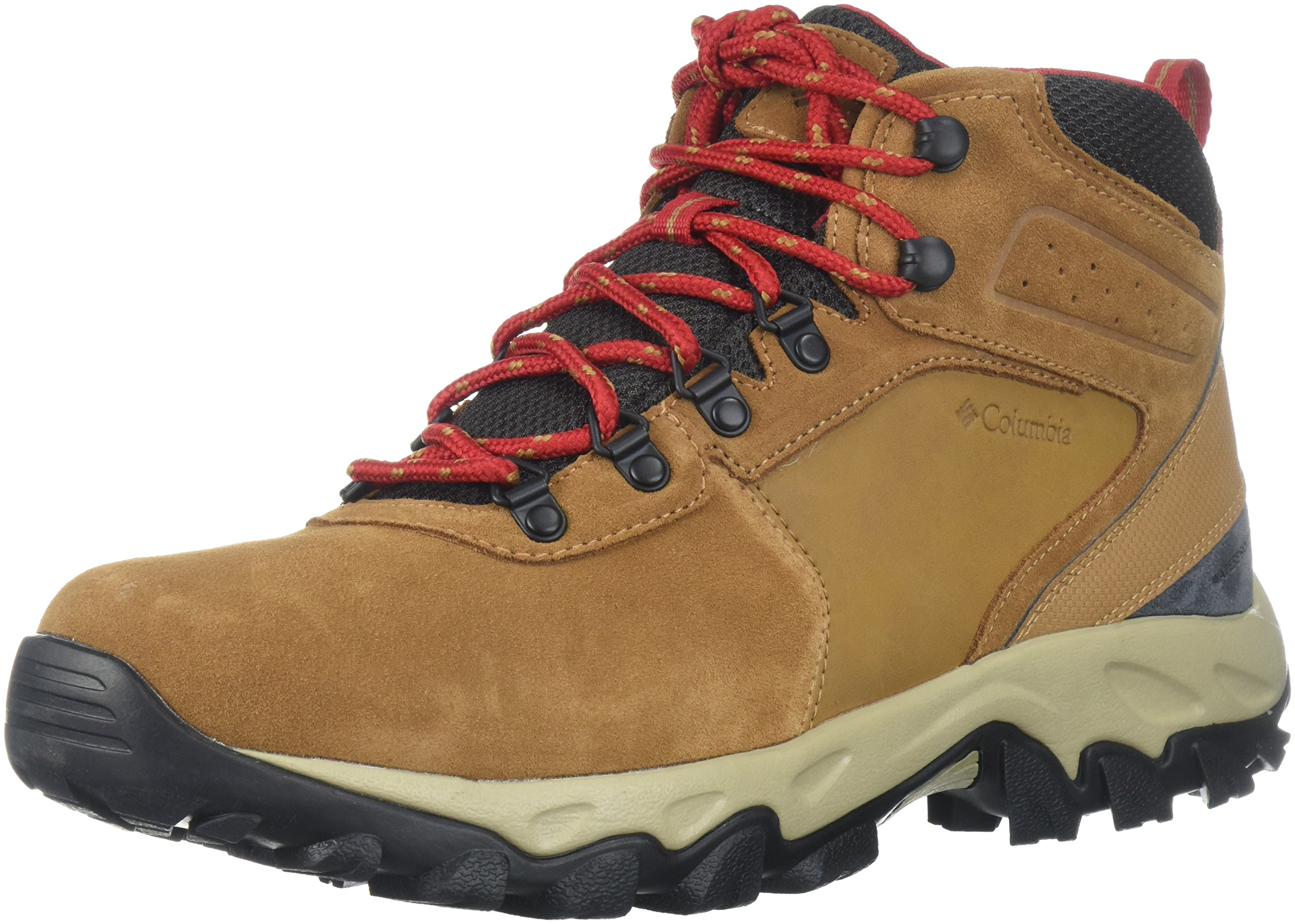 Columbia Men's Newton Ridge Plus II Suede Waterproof Boot, Breathable with High-Traction Grip Hiking, elk, mountain red 7 Regular US