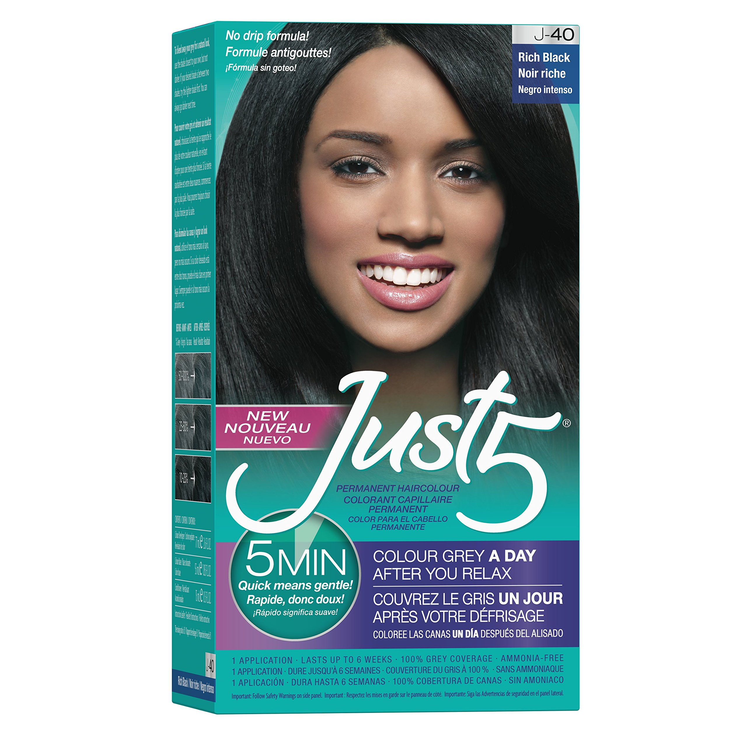 Amazon Just 5 Womens 5 Minute Permanent Hair Color Black