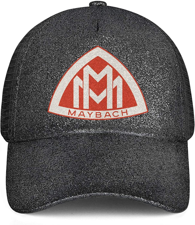 Sequins Fluorescent Horsetail Mesh Hat Maybach-Logo Snapback Custom Dad Caps