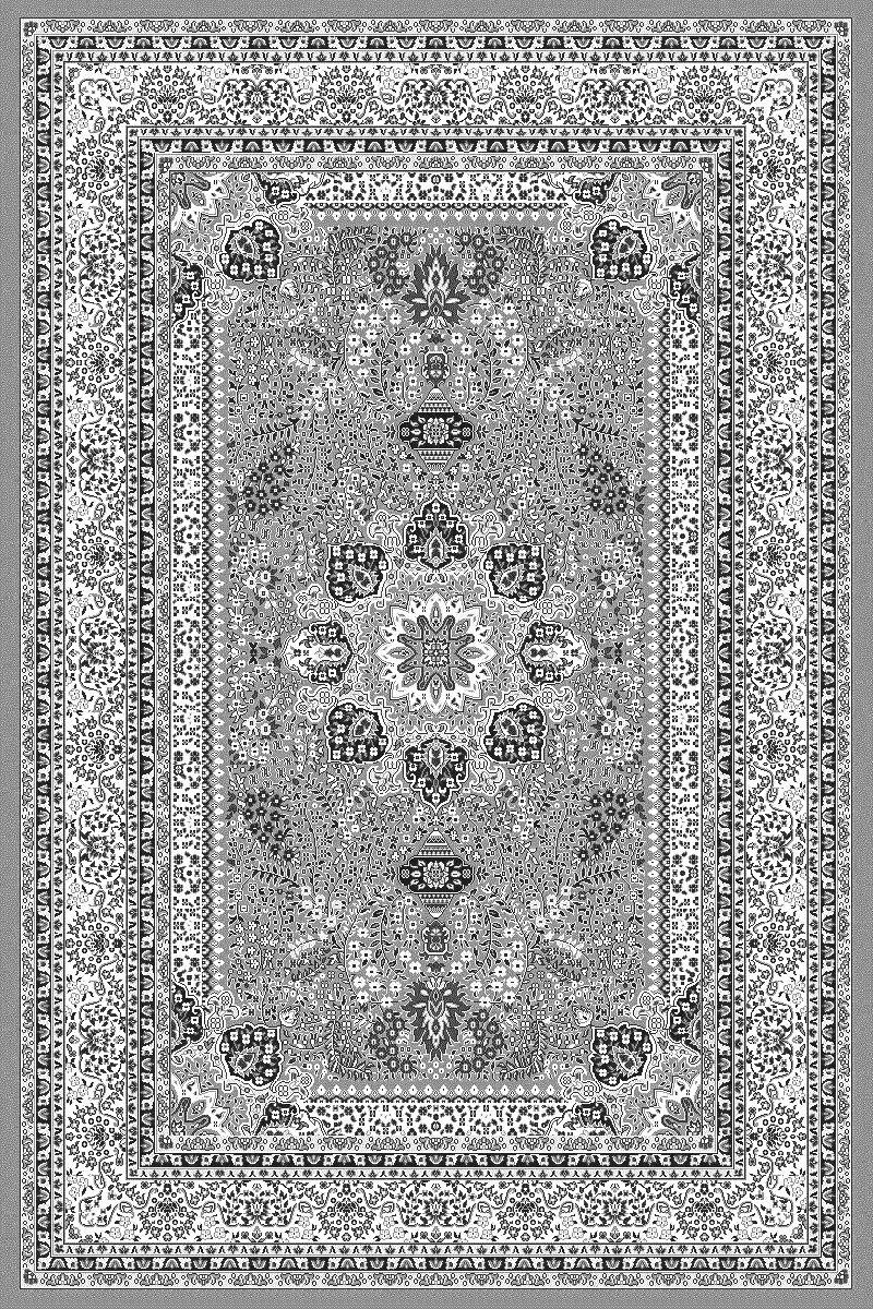 Fabelia Orient Teppich Kollektion Marrakesh - Orientalisch-europäische Designs klassisch und modern (120 x 170 cm, Casablanca Grau 0207)