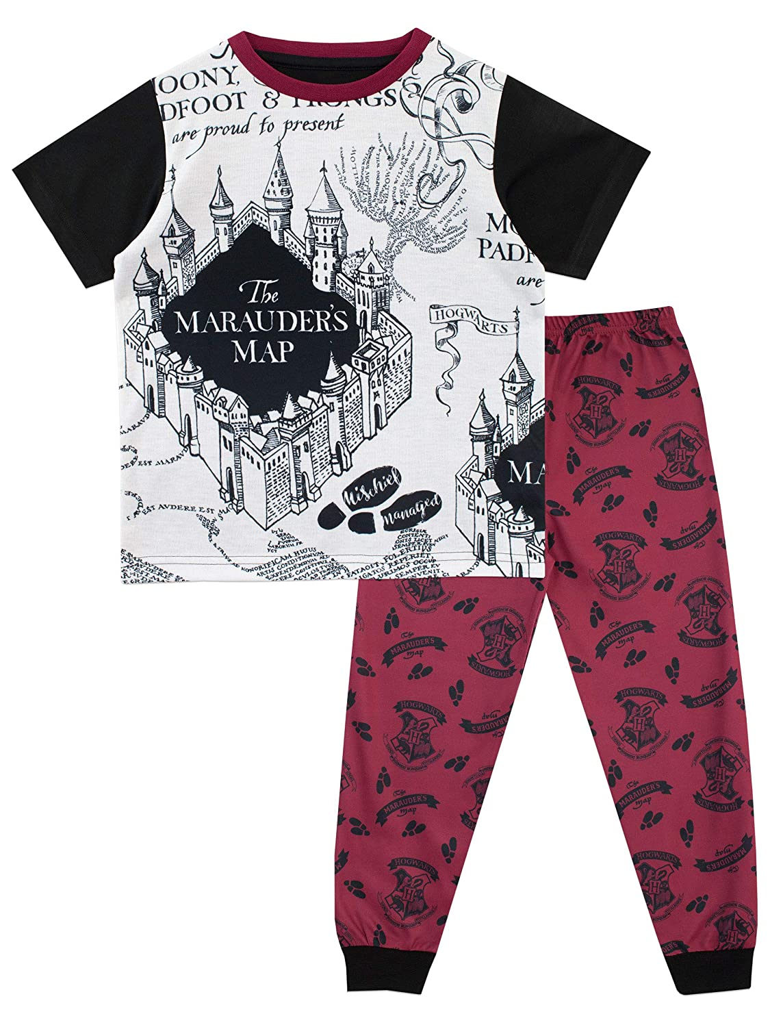 Hary Potter Boys Marauders Map Pajamas