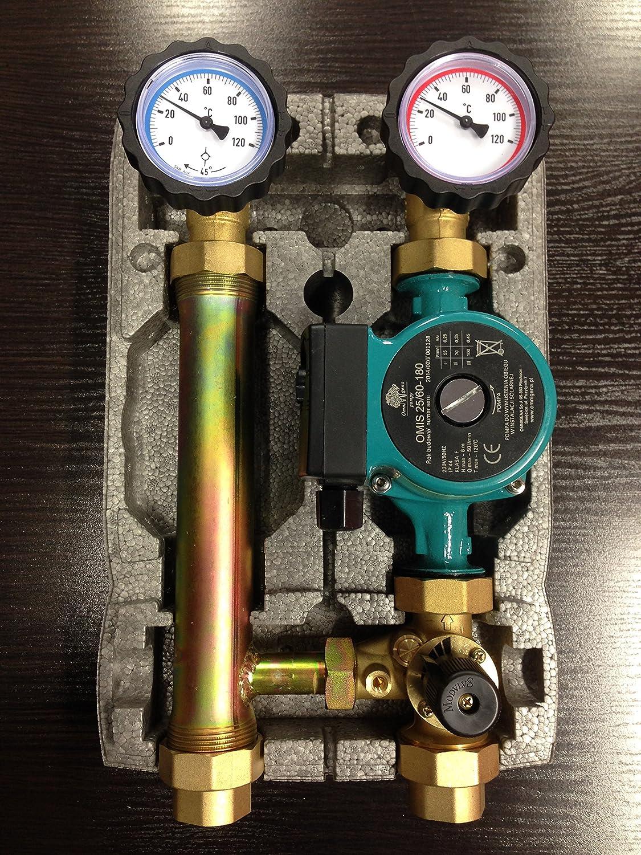 Pumpengruppe mit Mischer Heizkreisset 1 Pumpe 25//60 OMNI