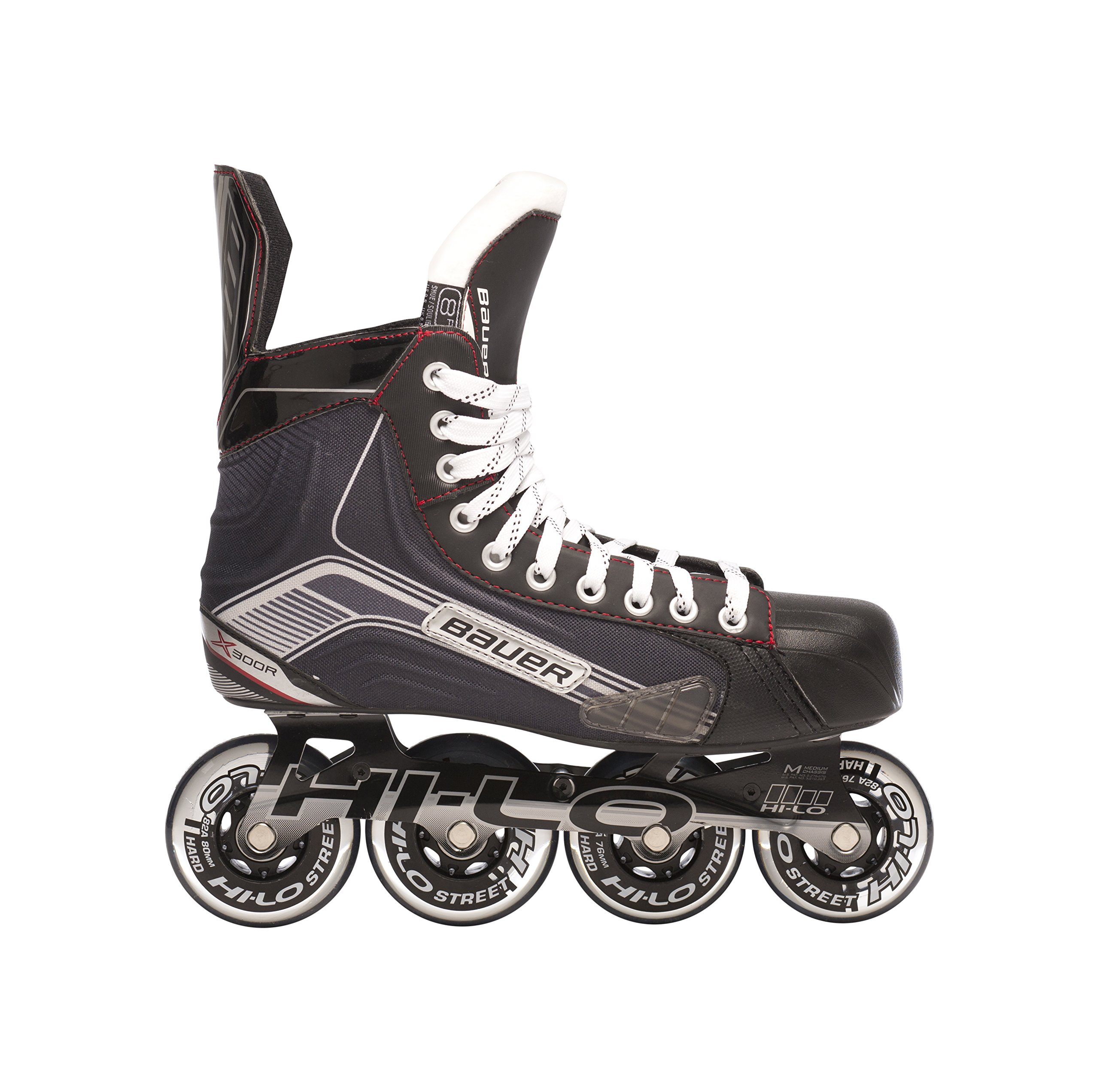 Bauer 1047269 Junior Vapor X300R Roller Hockey Skate, Black, Size 1 by Bauer
