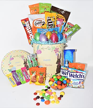 Amazon easter variety snack gift pack in yellow happy easter easter variety snack gift pack in yellow happy easter tin 29 count easter chocolate negle Image collections