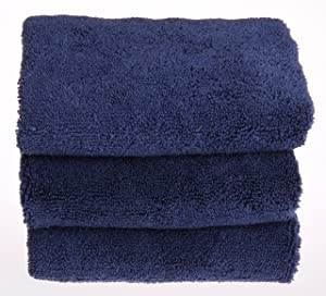 UTowels 16x27 Large Premium Microfiber Towels for auto & home Scratch free & Lint free (12pcs, Navy Blue)