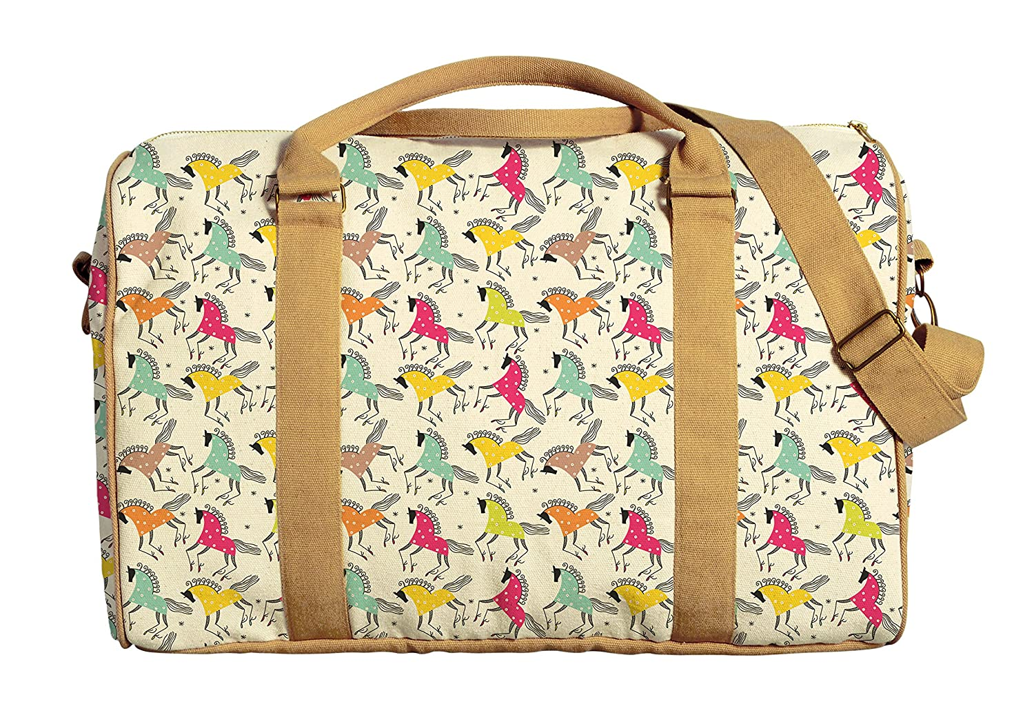 Unicorn Patterns Printed Canvas Duffle Luggage Travel Bag WAS/_42