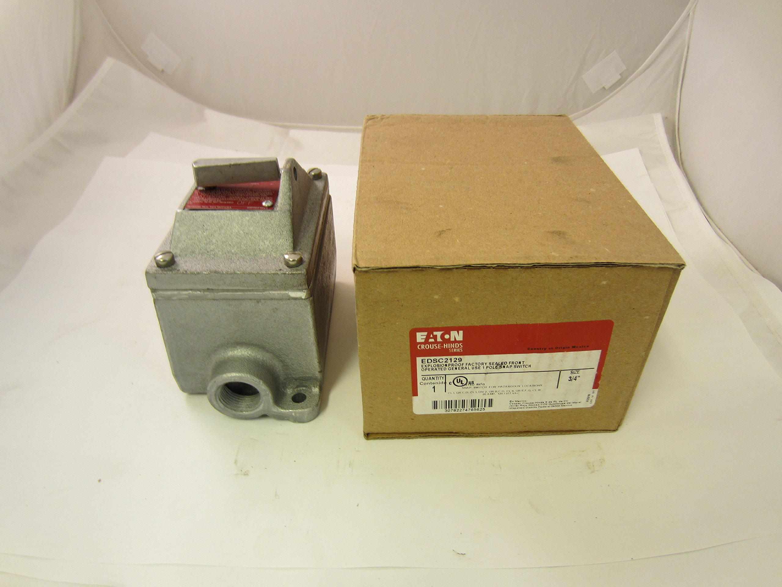 NEW COOPER CROUSE HINDS EDSC2129 SNAP SWITCH