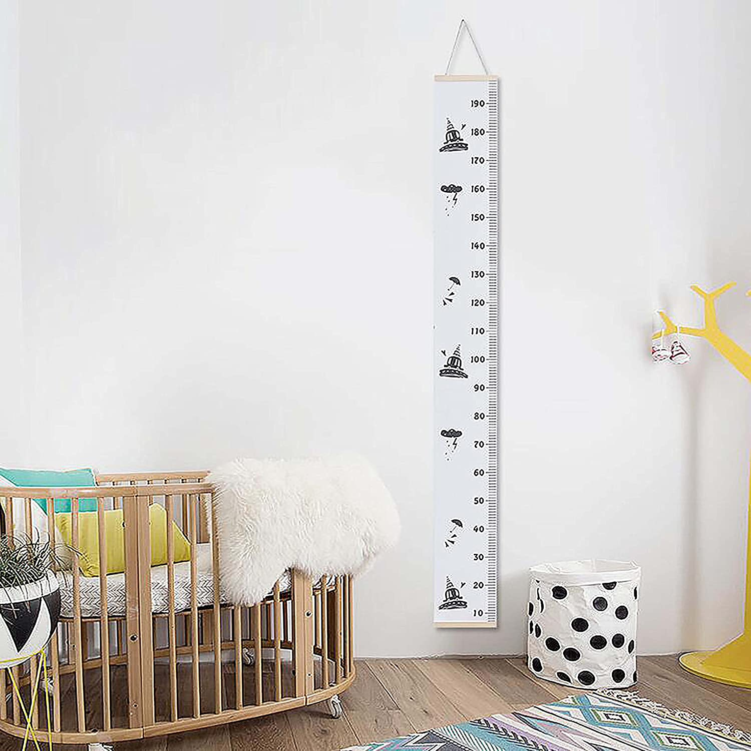 Height Measure,Canvas Height Chart Wall Hanging for Baby Kids Boys Girls Growth Room Decoration QIMEI-SHOP