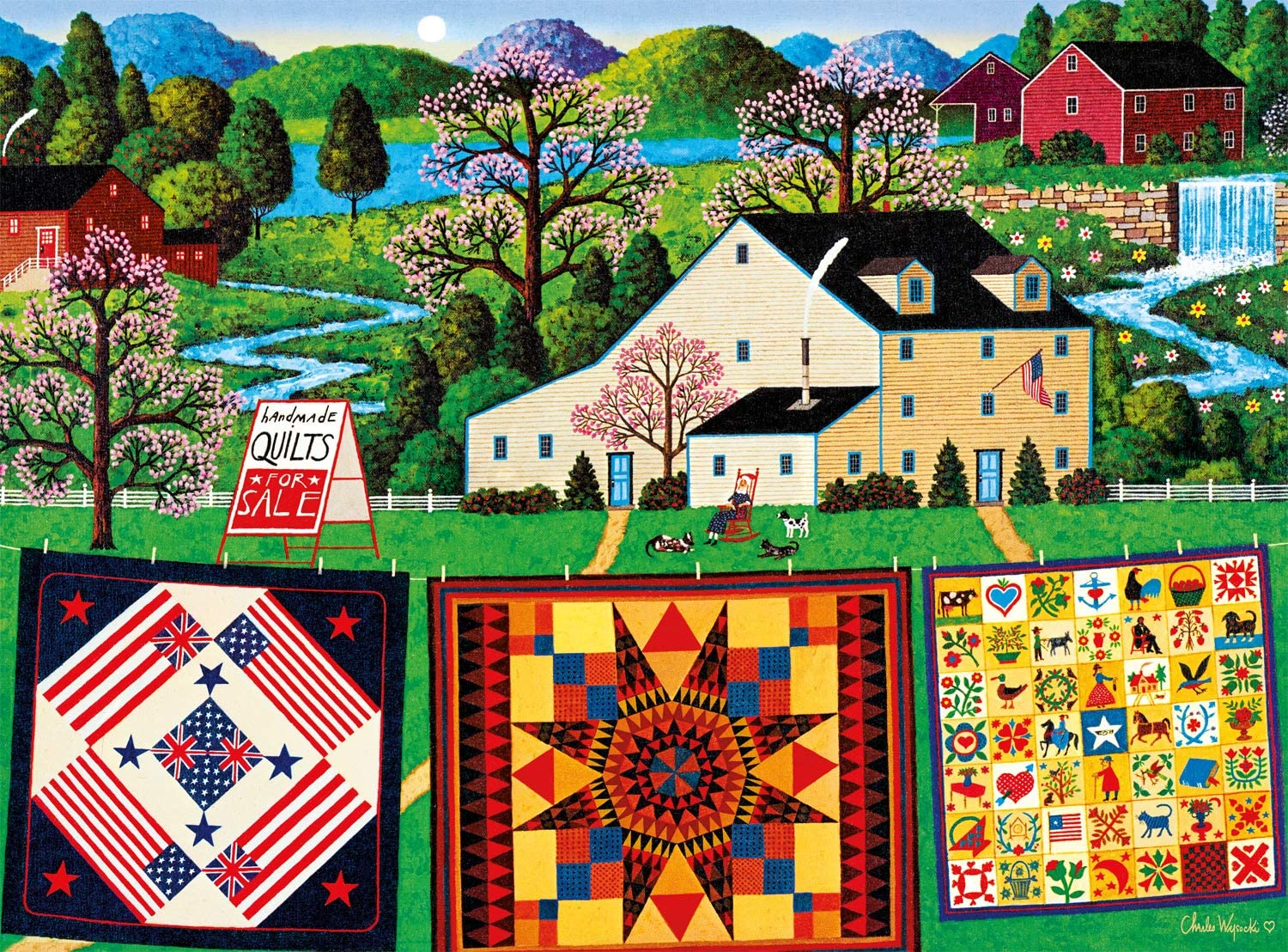 Buffalo Games - Charles Wysocki - The Quiltmaker Lady - 1000 Piece Jigsaw Puzzle
