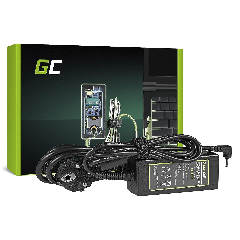 Green Cell® Cargador ASUS Eee PC 1001 1001HA 1001PX 1001PXD 1005 1005H 1005HA 1005P 1005PXD 1008HA 1011PX 1015 1015BX 1015P 1015PN 1016 para Ordenador ...