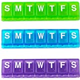 Ezy Dose Large Weekly / Locking Pill Planner with Braille , Colors Vary, 2-Pack
