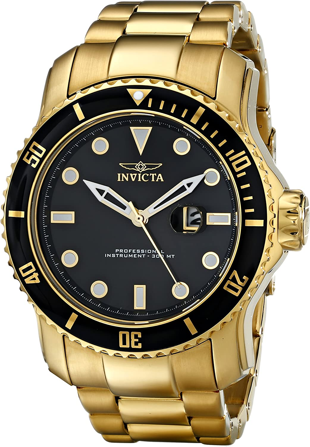 Invicta Men s 15351 Pro Diver Gold Ion-Plated Stainless Steel Watch