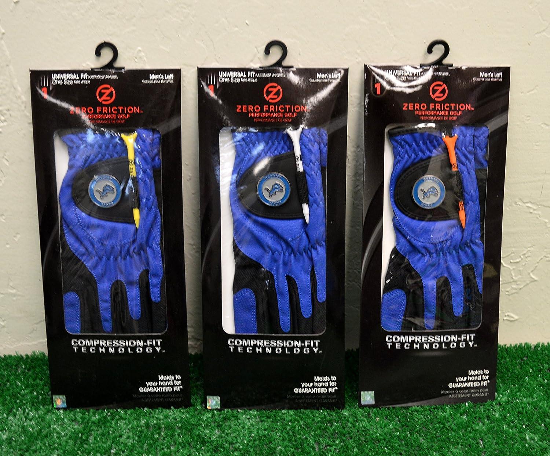 3ゼロ摩擦メンズLeft Handユニバーサルゴルフグローブ – Detroit Lions – ブルー   B077XK9FK4