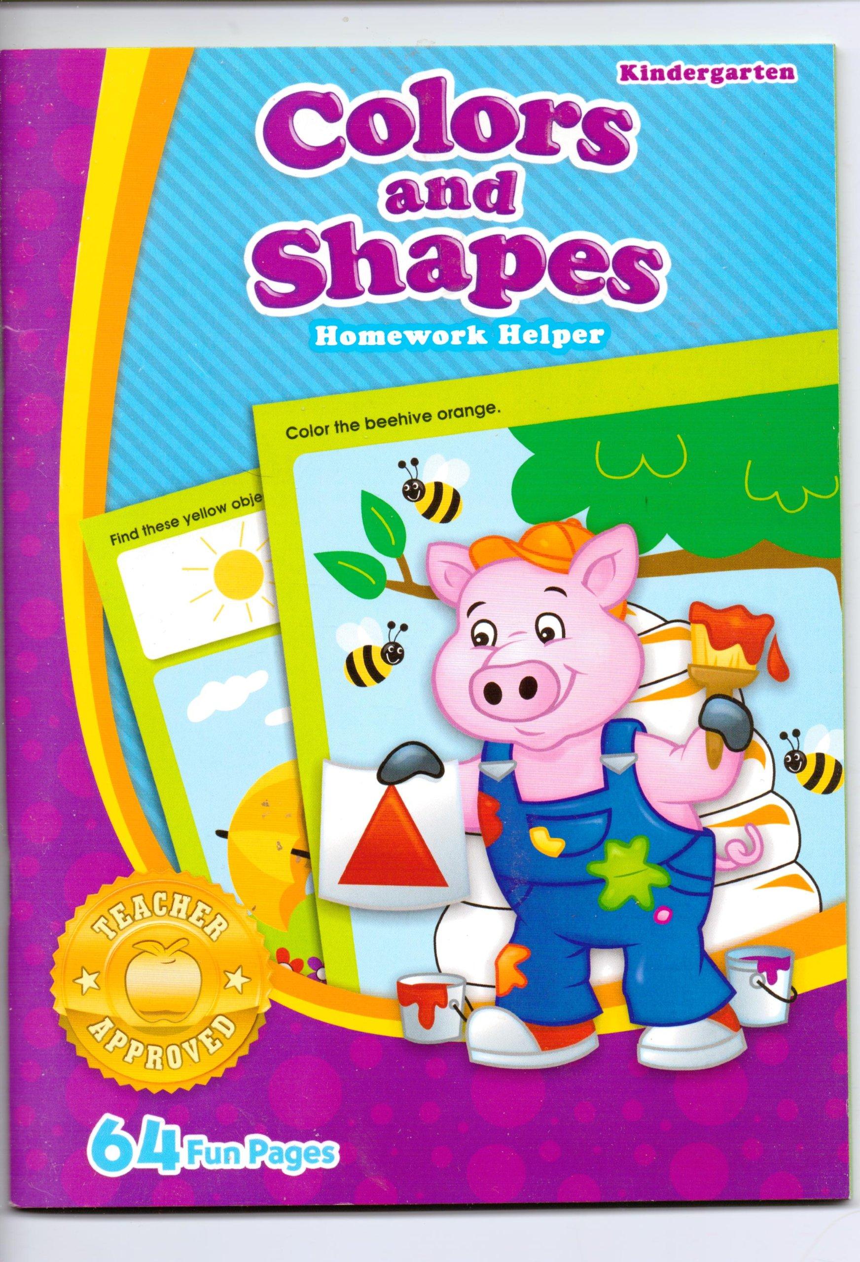 Download Colors and Shapes Homework Helper ~ Kindergarten pdf
