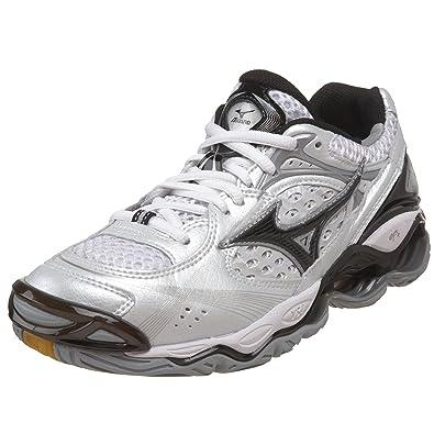 c41fd4ce6ef0 Mizuno Women's Wave Tornado 5 Volleyball Shoe,White/Black/Silver,6.5 M