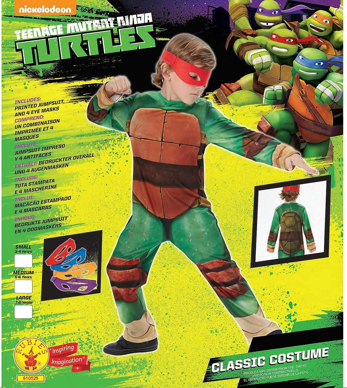 Rubie S Deguisement Officiel Tortue Ninja Tmnt Deguisement Pour Enfant Classique Tmnt Taille M 5 6 Ans Cs861525 M Amazon Fr Jeux Et Jouets
