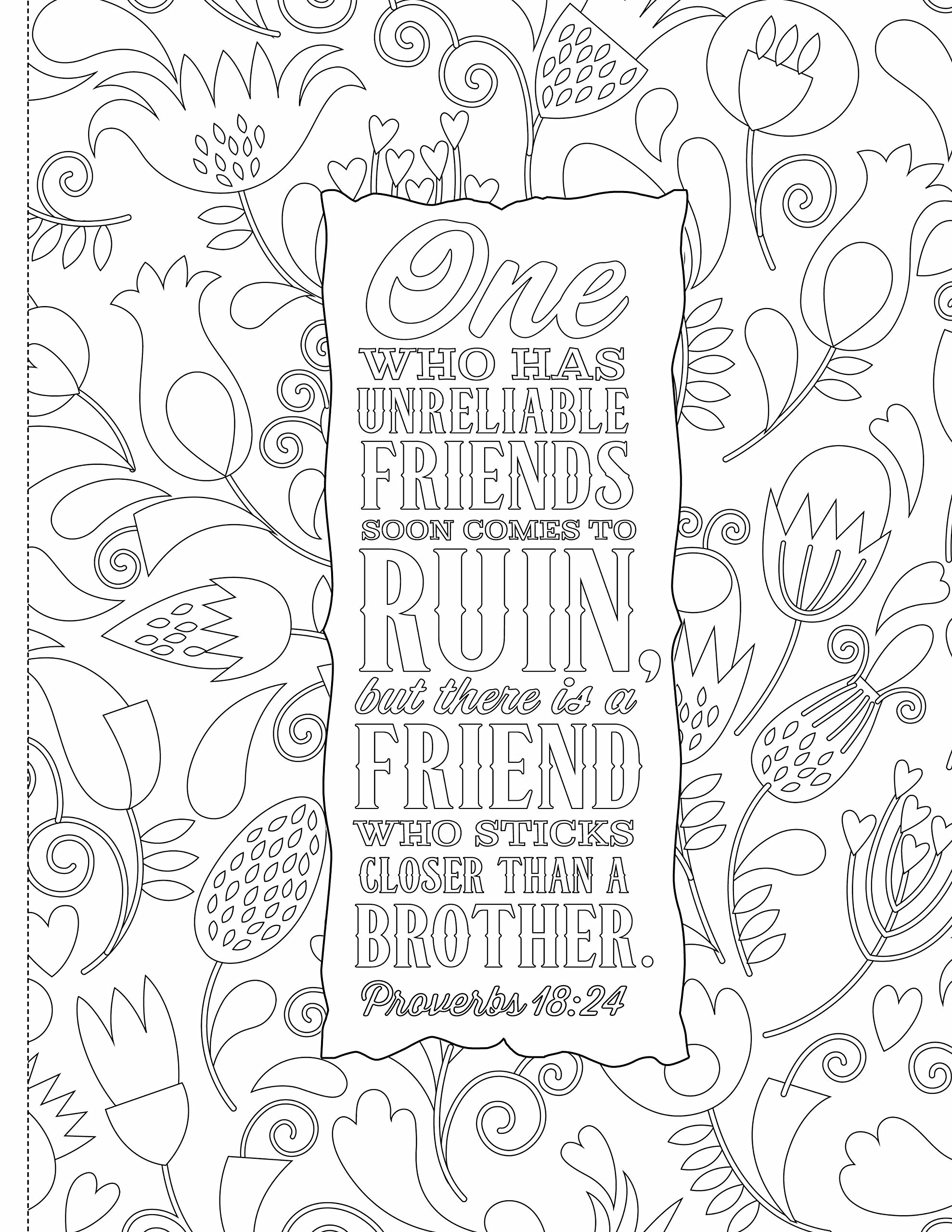 Inspiring Words Coloring Book: 30 Verses from the Bible You Can ...
