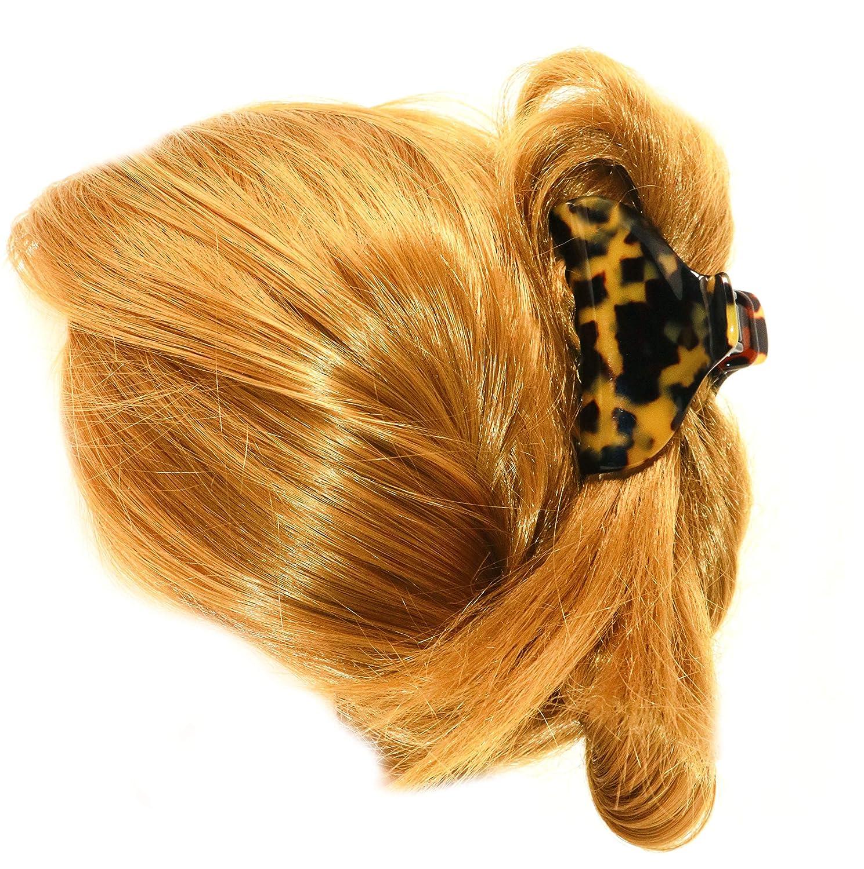 French Amie Geo Medium Tokyo Handmade Leopard Celluloid Hair Claw Clip Clamp