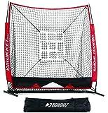 Rukket 5x5 Baseball & Softball Practice Net with Strike Zone Target and Lifetime Warranty